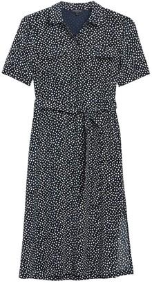 Lafayette 148 New York Doha Geo Print Silk Shirt Dress