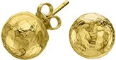 Dower & Hall Nomad 18ct Yellow Gold Plated on Sterling Silver Beaten Ball Stud Earrings