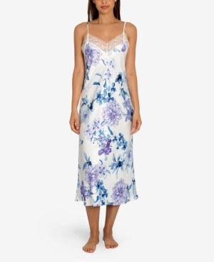 Linea Donatella Noralee Floral-Print Chemise Nightgown