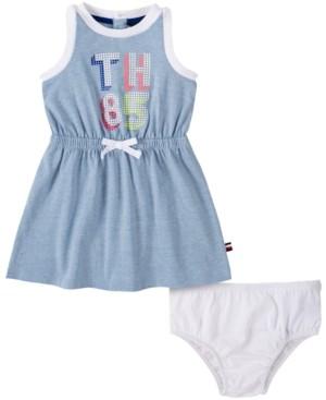 Tommy Hilfiger Baby Girls Logo Tank Dress & Diaper Cover Set