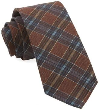 Tie Bar Pittsfield Plaid Burnt Orange Tie