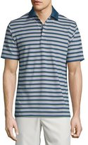 Peter Millar Convention Striped Jersey Short-Sleeve Polo Shirt, Navy