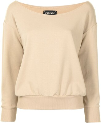 L'Agence Kimora long-sleeved off-shoulder top