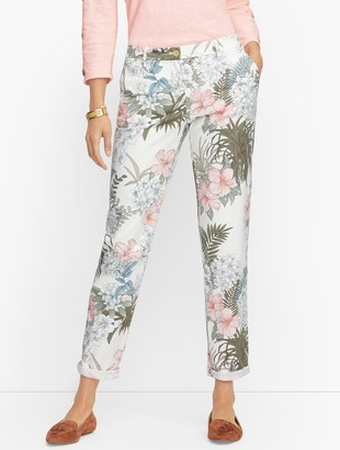 Talbots Relaxed Chinos - Floral Jungle