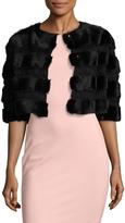 RED Valentino Women's Rabbit Fur Cropped Jacket