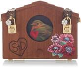 Dolce & Gabbana Embellished Wood Shoulder Bag