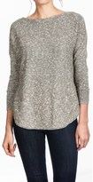 Lilla P Marled Side-Split Sweater - Boat Neck (For Women)