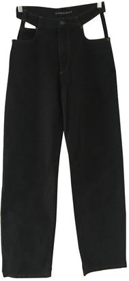 Y/Project Black Cotton Jeans for Women