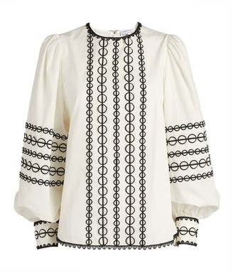 Andrew Gn Embroidered Peasant Blouse