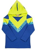 Siaomimi Men's Stretch-Cotton Jersey Ultraman Costume-BLUE