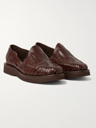 Yuketen Alejandro Woven Leather Huarache Sandals