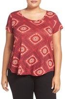 Lucky Brand Tile Print Tee (Plus Size)
