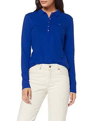 Tommy Hilfiger Women's Long Sleeve Slim Polo Shirt,Large