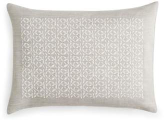 "Vera Wang Center Embroidery Decorative Pillow, 12"" x 16"""