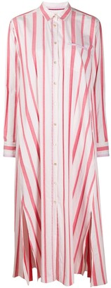 Forte Forte Stripe-Pattern Shirt Dress