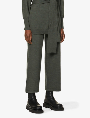 Gestuz Amira wide-leg high-rise wool trousers