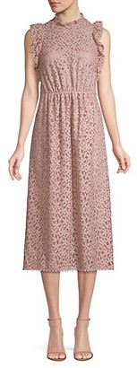Kate Spade Floral Crochet Lace Ruffle Midi Dress