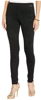 Lilly Pulitzer Anika High-Rise Ultra Suede (Black) Women's Casual Pants