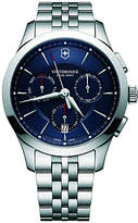 Victorinox 241746 Men's Alliance Chronograph Day Date Bracelet Strap Watch, Silver/Blue