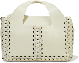 The Row Two For One 12 Braided Glossed-leather Tote