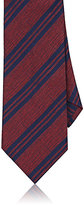 Barneys New York Men's Striped Silk Shantung Necktie