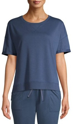 Secret Treasures Women's and Women's Plus Short Sleeve Lounge Sweatshirt