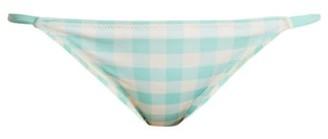 Solid & Striped The Morgan Gingham Bikini Briefs - Womens - Light Blue