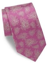Charvet Paisley Embroidered Silk Tie
