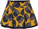 Catimini Yellow and Blue Reversible Leaf Skirt