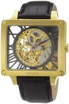 Constantin Durmont Men's Automatic Watch CD-CORR-AT-LT-GDGD-BK with Leather Strap