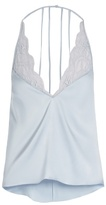Fleur of England Delphine lace-insert silk-blend satin cami top