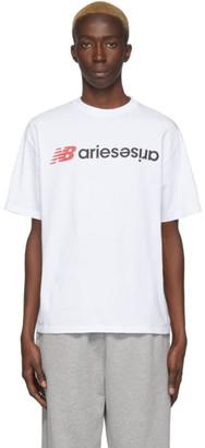Aries White New Balance Edition Logo T-Shirt