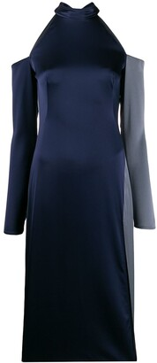 Ssheena Cold Shoulder Satin Dress