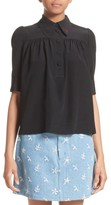 Marc Jacobs Women's Silk Short Sleeve Blouse