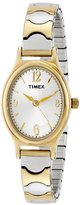 """Timex Women's T26301 """"Elevated Classics"""" Two-Tone Expansion Band Watch"""