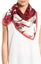 Vince Camuto Women's Floating Florals Square Silk Scarf