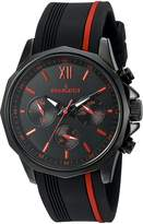 Peugeot Men's 2046BRD Chronograph Sport Watch with Silicon Band Multi Dial Analog Quartz Display