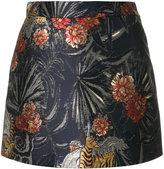 P.A.R.O.S.H. jungle print mini skirt