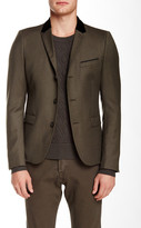 The Kooples Contrast Collar Wool Blazer