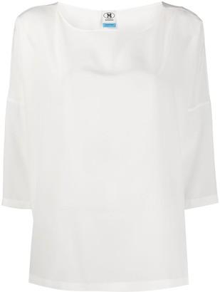 M Missoni oversized silk crepe blouse