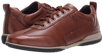 Geox Timothy (Dark Cognac Smooth Leather) Men's Shoes
