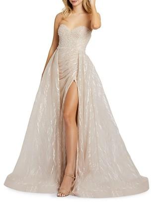 Mac Duggal Pearl Beaded Gown