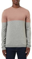 Topman Men's Colorblock Crewneck Sweater