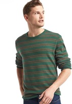 Gap Waffle knit stripe long sleeve tee