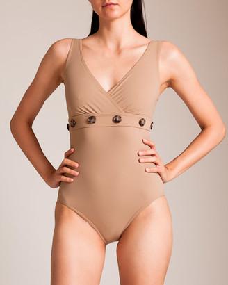 Karla Colletto Lauren Surplice U-Wire Swimsuit