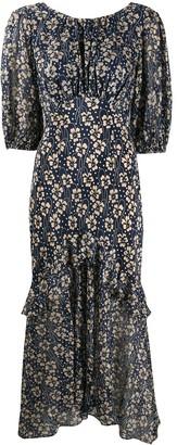 Rixo Cheryl floral print silk dress