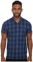 Scotch & Soda Short Sleeve Check Shirt with Double Neps Yarn
