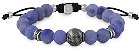Tateossian Blue Aventurine Bead Bracelet