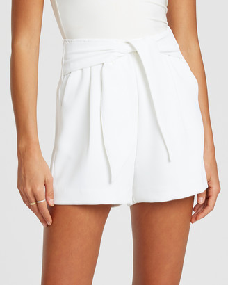 Tussah - Women's White Shorts - Tiarne Shorts - Size One Size, 14 at The Iconic