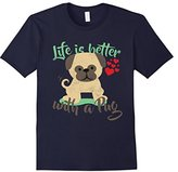 Men's Lifes Better With A Pug Tshirt Large